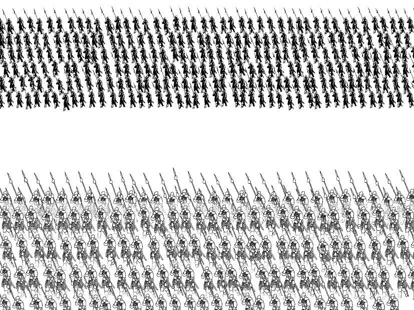 巷にひとり在り : 人海戦術
