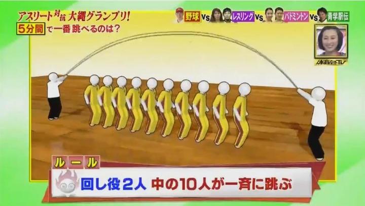 20170121炎の体育会TVカープ大縄跳び参戦12