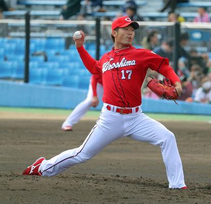 【広島】岡田は開幕ローテOK!打球直撃も畝投手コーチが「大丈夫」