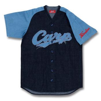 デニムユニフォーム型シャツ1