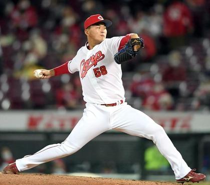 カープ育成出身・藤井黎來が初登板1回無失点デビュー!「力強い球を出せた」