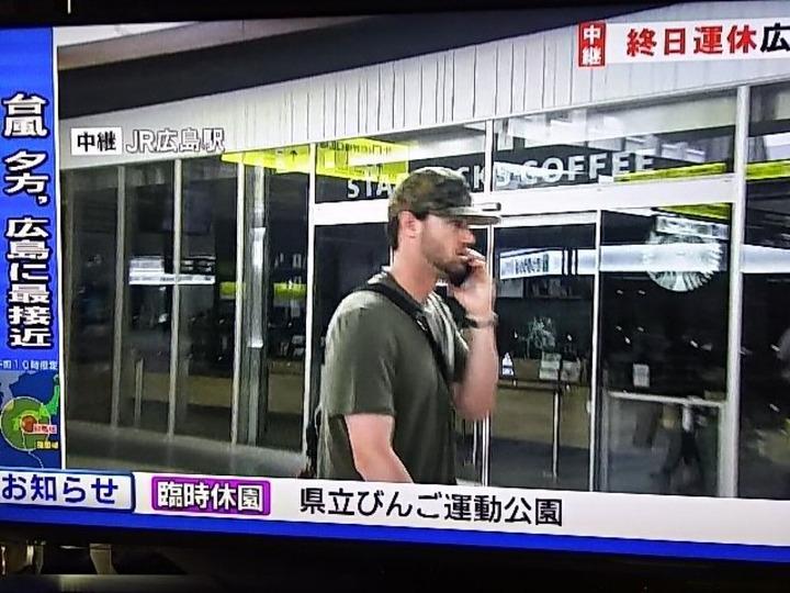 ジョンソン台風中継1