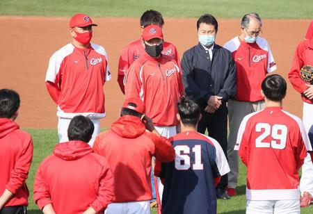 広島が秋季練習開始 九里、森下、堂林ら19選手が参加 佐々岡監督「個々の課題を持って」
