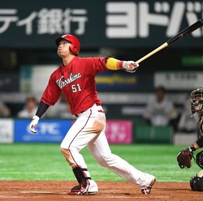 広島・鈴木誠也 184打席 39三振 35四球 率.301 出塁.434