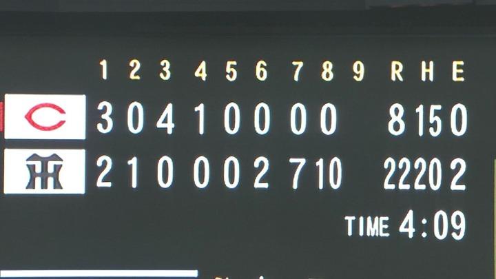 阪神戦22-8