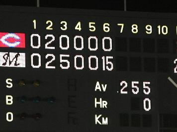 20090611ロッテ戦1イニング15点3