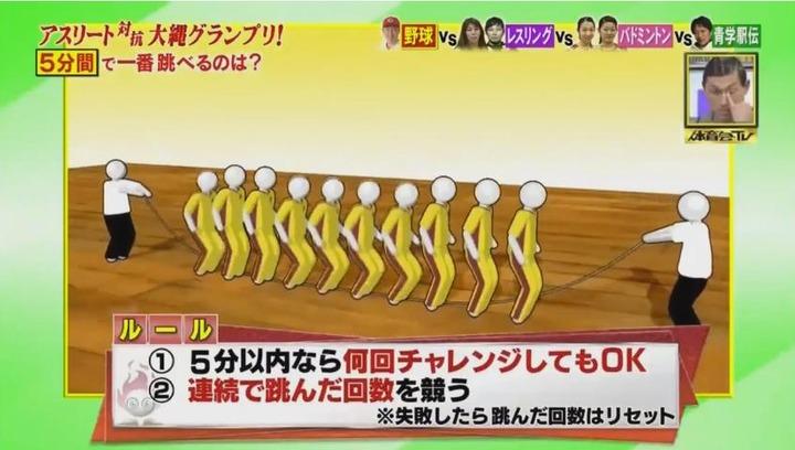 20170121炎の体育会TVカープ大縄跳び参戦13