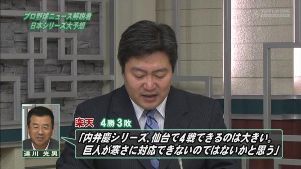 達川2013日本シリーズ予想