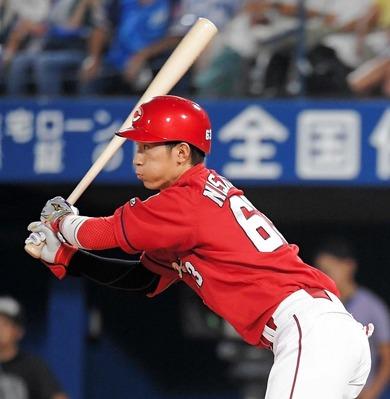 西川龍馬(22) 62試合 .294 0本 3打点 OPS.731