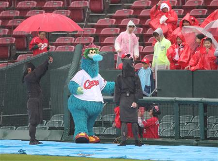 本日のオープン戦 広島×オリックス戦(マツダ)は雨天中止