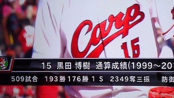 黒田通算193勝176勝1S