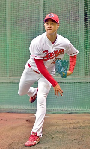 カープ育成3年目の佐々木健、自由契約選手に