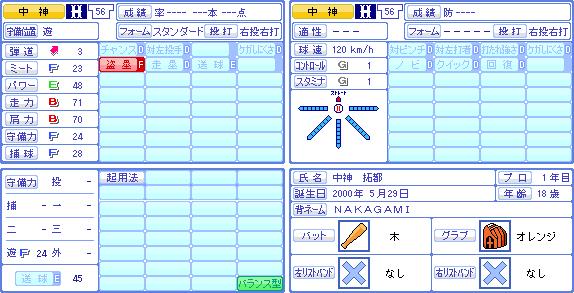 パワプロ20190609_4中神