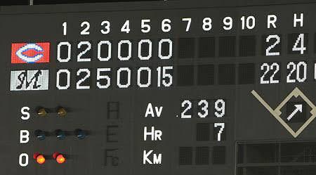 20090611ロッテ戦1イニング15点1