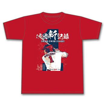 2020鈴木誠也5年連続打率3割25HR達成Tシャツ1