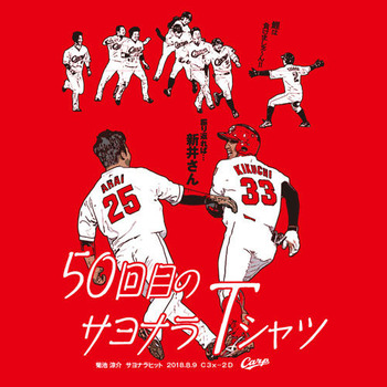 菊池サヨナラヒットTシャツ&ミニトートバッグセット3