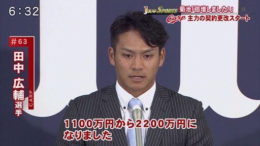 田中広輔350