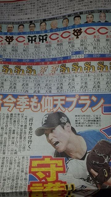2017ペナント予想_中日新聞2