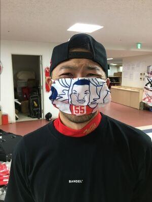 カープ手ぬぐいマスク2