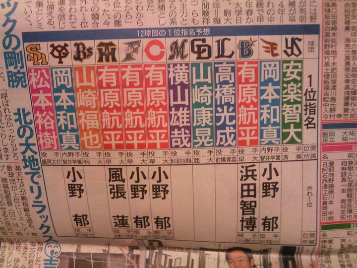 日刊ドラフト2014予想2