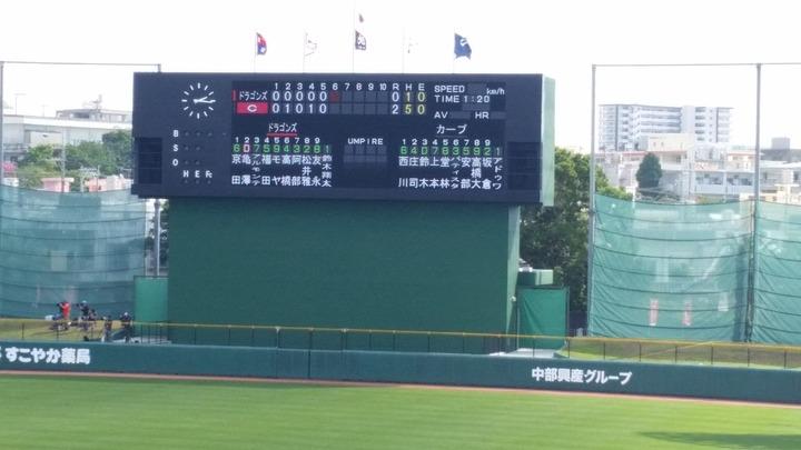 20180218練習試合_中日戦1