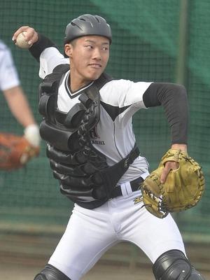 広島ドラフト育成1位 磐田東・二俣翔一「練習が大好き」 高校通算21発の打てる捕手 投げても最速146キロ