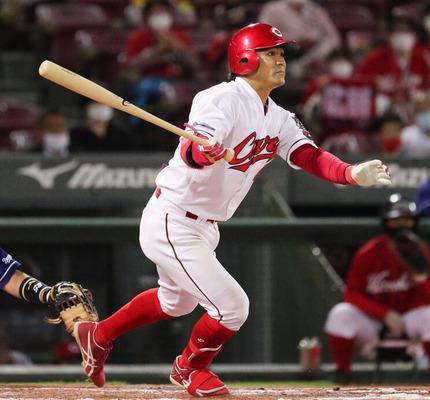 広島・田中広輔(31) .254 7本 33打点 出塁率.357 OPS.736