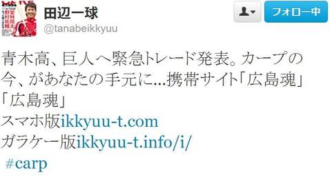 田辺一球20130428Twitter