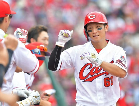 カープ西川、復帰戦で猛打賞!「野球が久々にできて楽しかった」コンディション不良から47日ぶり1軍