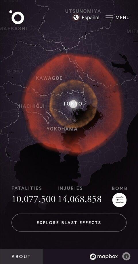 世界最大の核爆弾、ツァーリボンバが東京に落とされたら