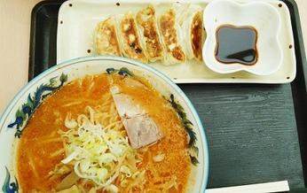 辛みそラーメン+餃子