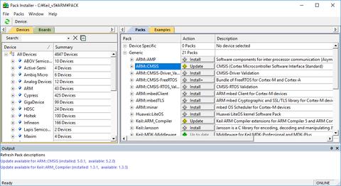 MDK-ARMデバイスパックのインストール_2-3
