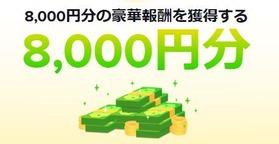 8000円分