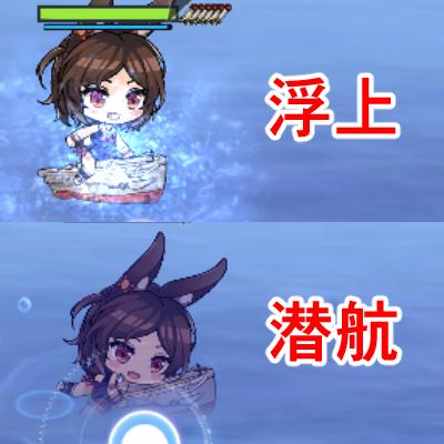 アズールレーン_通商破壊_潜水艦のコマンド_浮上と潜航