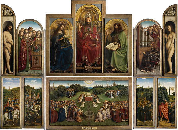 Ghent Altarpiece (1432) by Hubert and Jan van Eyck