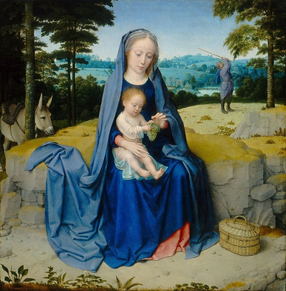 Rest on The Flight into Egypt, c. 1510,[15] by Gerard David
