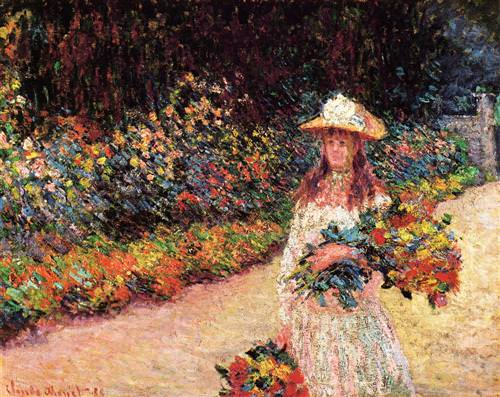 Young Girl in the Garden at Giverny1888
