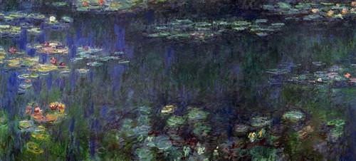 Water Lilies, Green Reflection (left half)1926