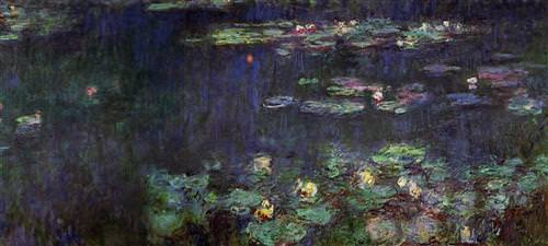 Water Lilies, Green Reflection (right half)1926