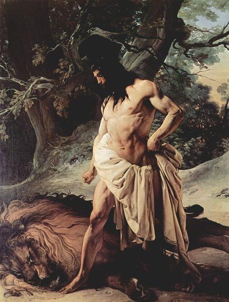 Samson and the Lion (1842)