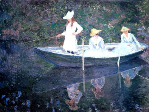 In the Norvegienne Boat at Giverny1887