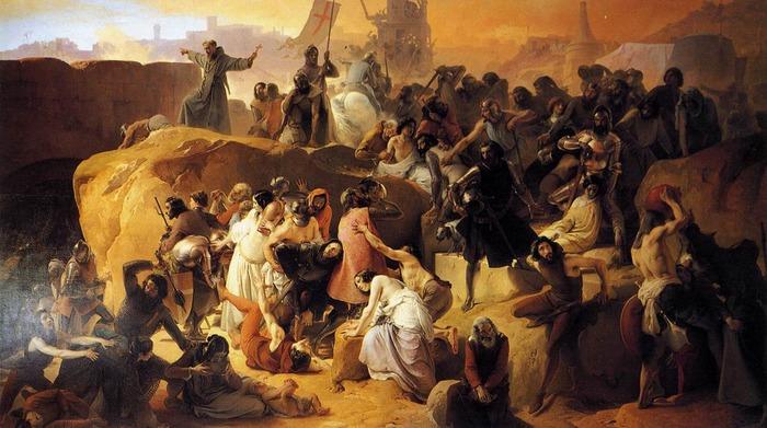 Crusaders near Jerusalem (1836–50)