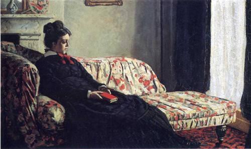 Meditation, Madame Monet Sitting on a Sofa1871
