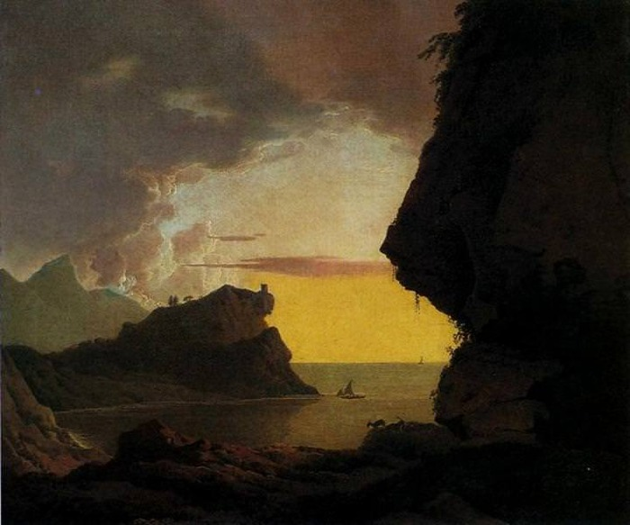 Sunset on the Coast near Naples