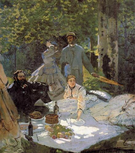 Lunch on the Grass (central panel)1865