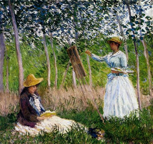 In The Woods At Giverny Blanche Hoschede1887