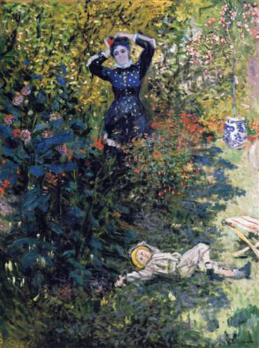 Camille and Jean Monet in the Garden at Argenteuil 1873