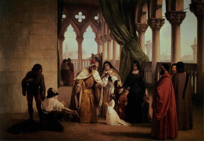 Scene from Byron's Drama The Two Foscari