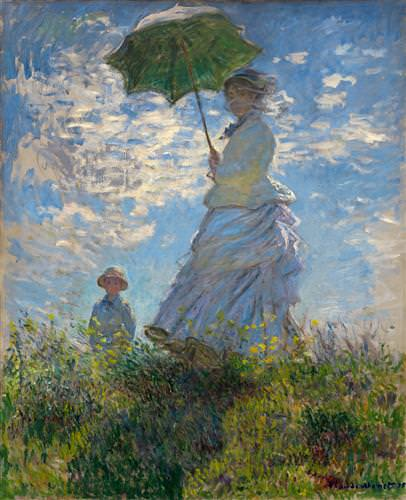 The Promenade, Woman with a Parasol1875