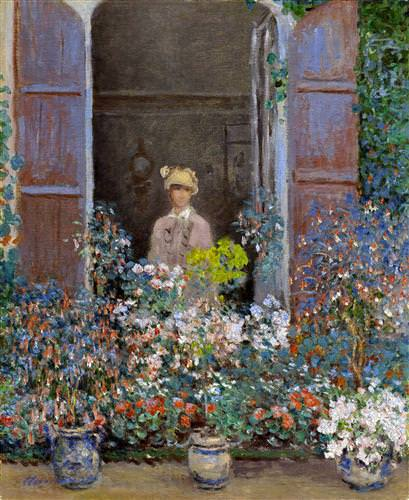 Camille Monet at the Window, Argentuile1873
